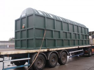 Blivet Package Sewage Treatment Plant on truck