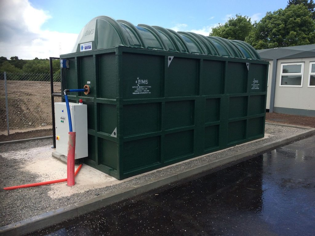 BMS BL1000 Blivet Package Sewage Treatment System_Installed above ground on a temporary basis
