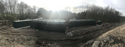 View of large hotel sewage treatment plant using BMS Blivets