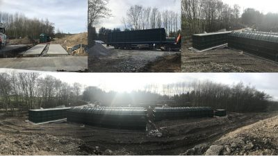 Pictures showing a completed sewage treatment plant for a large hotel