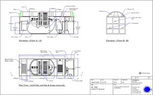BL1000 UV Blivet Package Sewage Treatment Plant Drawing