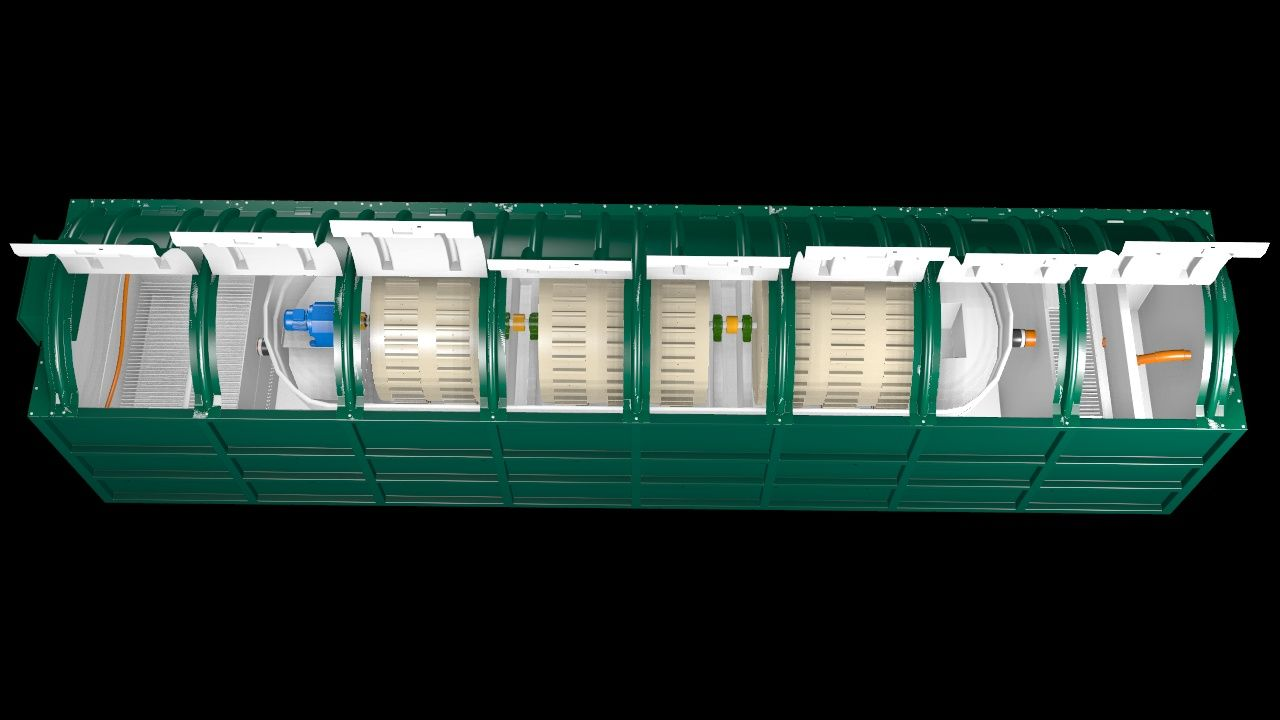 BMS Blivet BL4000 Blivet Package Sewage Treatment Plant_3D Drawing